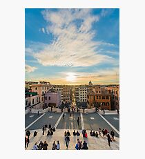 Sunset at the Spanish Steps Photographic Print