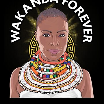 Nice Melanin Monroe Wakanda Forever Tee Design Print by dopelikethe80s