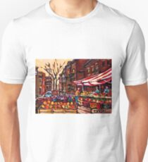AUTUMN IN THE CITY CANADIAN PAINTINGS BEST AUTHENTIC ORIGINAL MONTREAL PAINTINGS T-Shirt
