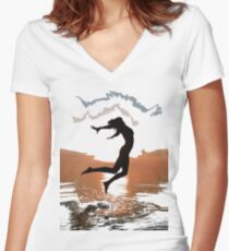 Over all the world (t-shirt) Women's Fitted V-Neck T-Shirt