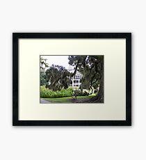 Magnolia Plantation Framed Print