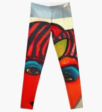 Red Tomato Face Leggings