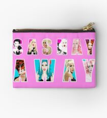 SASHAY AWAY ft RuPaul's Drag Race Queens Bianca Del Rio, Adore Delano, Katya, Alaska, Trixie Mattel, Violet Chachki, Courtney Act, Alyssa Edwards Studio Pouch