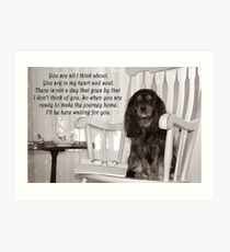 Missing You Cavalier King Charles Spaniel  Art Print