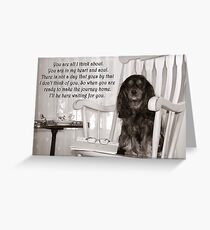 Missing You Cavalier King Charles Spaniel  Greeting Card