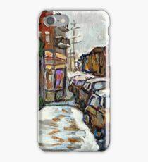 BEST AUTHENTIC MONTREAL ORIGINAL ART BOULANGERIE ST.VIATEUR BAGEL CANADIAN WINTER PAINTINGS iPhone Case/Skin