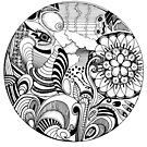 Hand-drawn doodle with swirls and zentangle. by JC-Frost