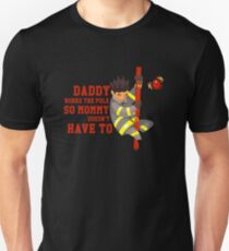 210f66cf Funny Firefighting Daddy T-Shirt - Firefighter Dad Fireman Slim Fit T-Shirt