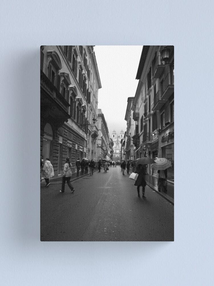 Alternate view of shopping in via Condotti, Rome Canvas Print