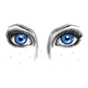 Crystal eyes sticker by MollyAmelia15
