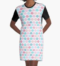Seashell bright tropical shell pattern home decor, fashion and gifts Graphic T-Shirt Dress
