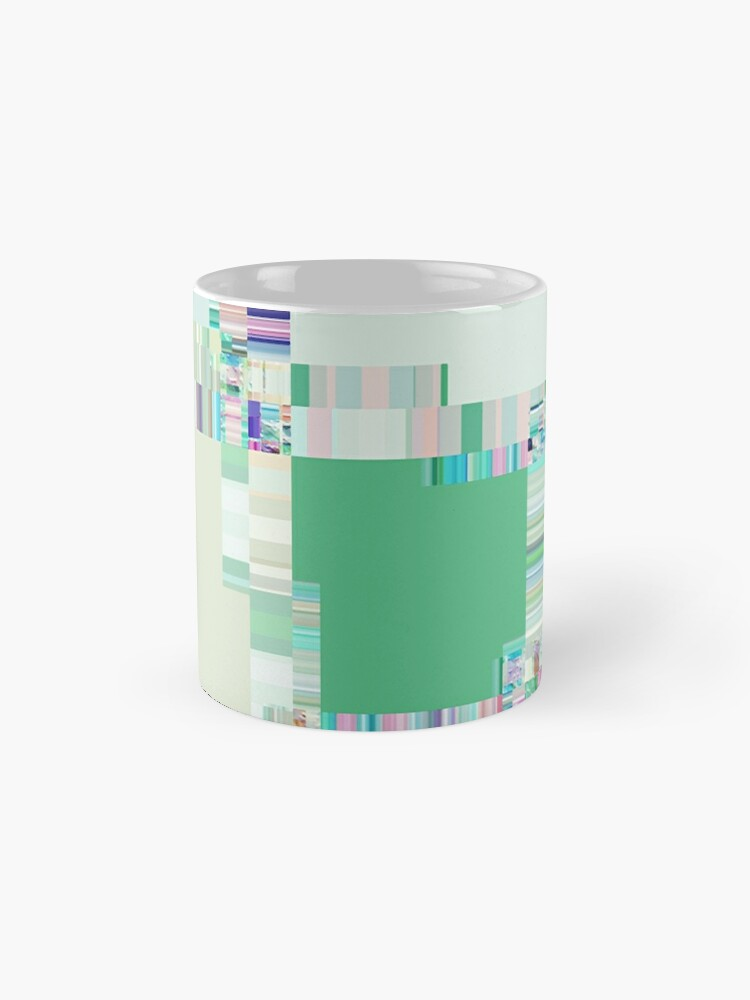 Alternate view of Abstract lines and colour green Mugs
