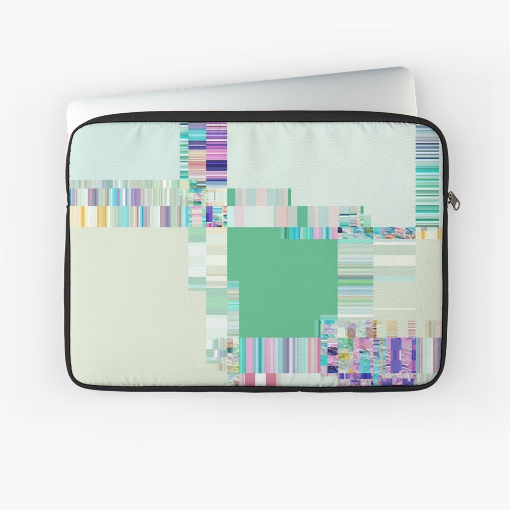 Abstract lines and colour green Laptop Sleeve