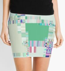 Abstract lines and colour green Mini Skirt