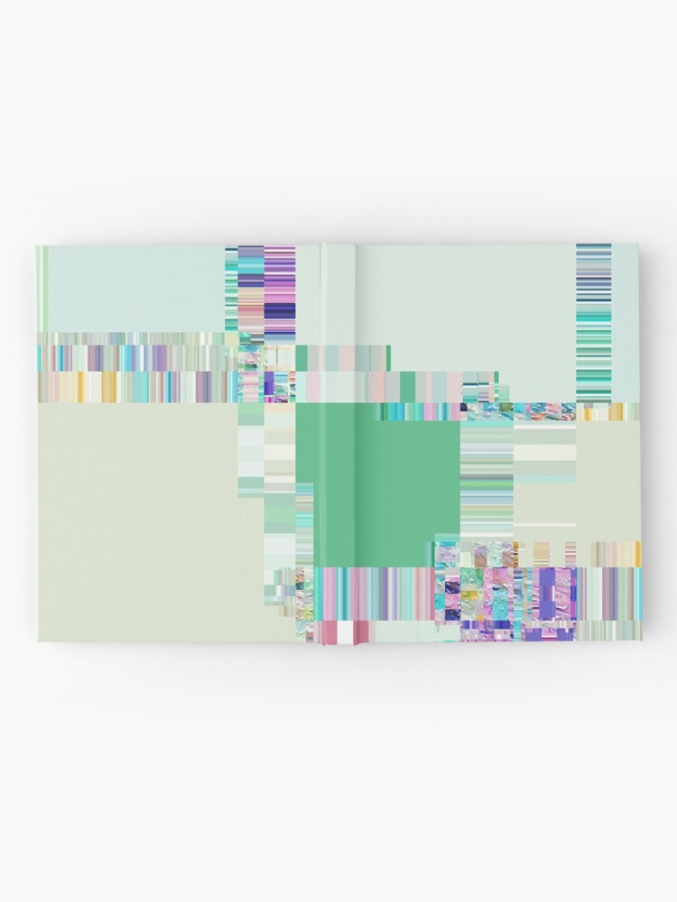Alternate view of Abstract lines and colour green Hardcover Journal