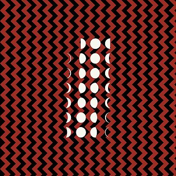 Phases Of The Moon (Red Black Zigzag Pattern) by jezkemp