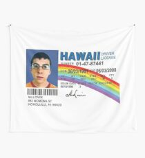 Mclovin Drivers License  Wall Tapestry
