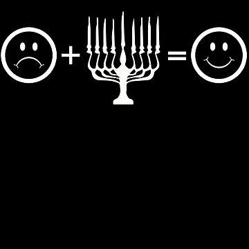 Chanukah Hanukkah Equals Happy Jewish T Shirt by shoppzee