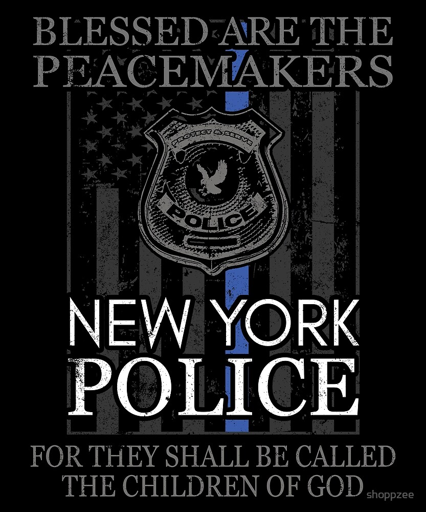 New York Police Support Peacemakers Police Mom Shirt by shoppzee
