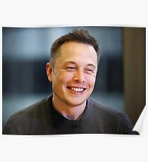 Elon Musk Portrait  Poster