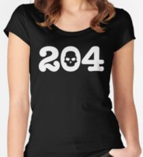 204 Skull Women's Fitted Scoop T-Shirt