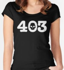 403 Skull Women's Fitted Scoop T-Shirt