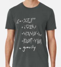 Camiseta premium Ecuación estándar del modelo corregida