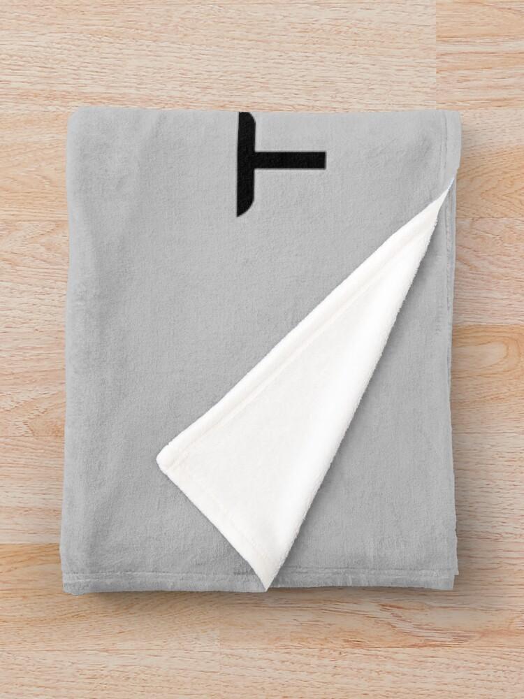 Alternate view of TESLA - Black Throw Blanket