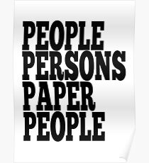 Paper Persons Paper People Poster