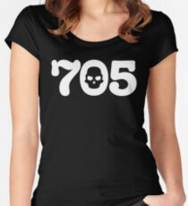 705 Skull Women's Fitted Scoop T-Shirt