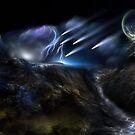 Meteors Fractal Art Composition by xzendor7