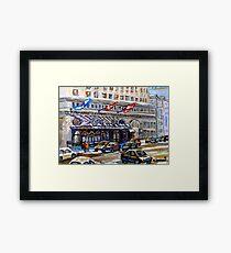 Rue Sherbrooke Best Canadian Original Art For Sale Ritz Carlton Paintings  Montreal Street Scenes Framed Print