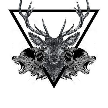Deer & Wolfs by JeferCelmer