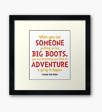 Adventure Quote - Winnie the Pooh Quote Framed Print