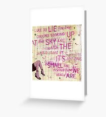 Looking Up At the Sky Greeting Card