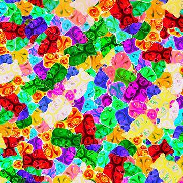 Pile of Gummy Bears by DigitalShmo