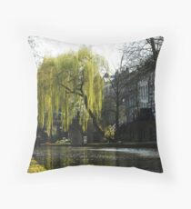 In search of spring in Utrecht Throw Pillow