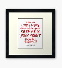 In Your Heart Quote - Winnie the Pooh Framed Print