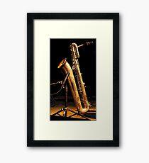Baritone sax Framed Print