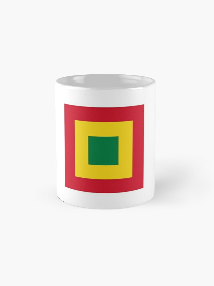 Alternate view of Naval Jack of Bolivia  Mugs