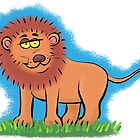 Funny lion cartoon by FrogFactory
