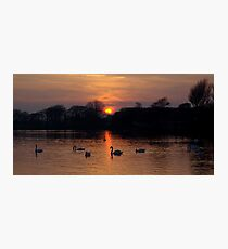 Sunset Lake Photographic Print
