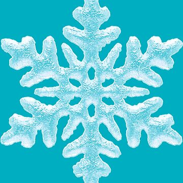 Icy Aqua Teal Frozen Snowflake - Frosty Winter Christmas by 26-Characters