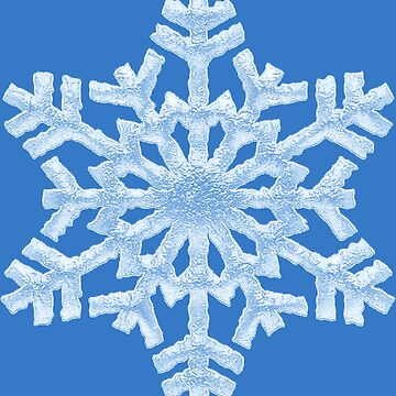 Icy Blue Frozen Snowflake - Frosty Winter Christmas by 26-Characters
