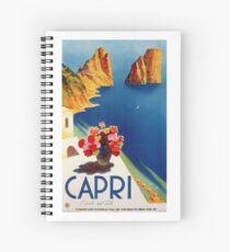 Vintage Capri ItalyTravel Spiral Notebook
