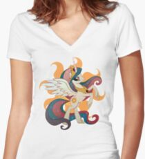 princess celestia Women's Fitted V-Neck T-Shirt