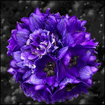 Purple Delphinium Art Fashion and Home Decor by GraceArt