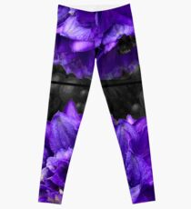 Purple Delphinium Art Fashion and Home Decor Leggings