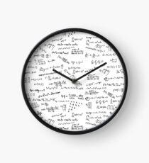 Math Formulas And Numbers Clock