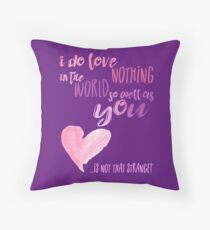 is not that strange? purple Throw Pillow